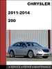 Thumbnail Chrysler 200 2011-2014 Factory workshop Service Repair Manual