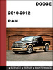 Thumbnail Dodge RAM 2010-2012 Factory workshop Service Repair Manual