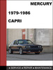 Thumbnail Mercury Capri 1979 - 1986 Factory workshop Service Repair Manual