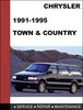 Thumbnail Chrysler Town & Country 1991-1995 Factory service Workshop repair Manual