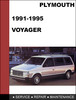 Thumbnail Plymouth Voyager 1991-1995 Factory service Workshop repair Manual