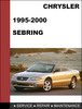Thumbnail Chrysler Sebring 1995-2000 Factory service Workshop repair Manual