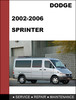 Thumbnail Dodge Sprinter 2002-2006 Factory service Workshop repair Manual