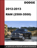 Thumbnail Dodge RAM HD 2500-3500 2012-2013 Factory service Workshop repair Manual