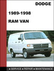 Thumbnail Dodge RAM VAN 1989-1998 Factory service Workshop repair manual