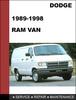 Thumbnail Dodge RAM VAN 1989-1998 Factory service Workshop repair manual