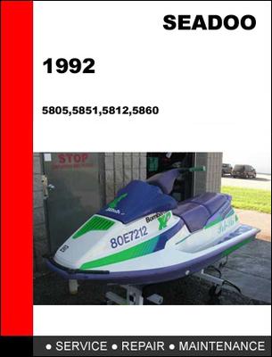 1989 bombardier seadoo personal watercraft service repair shop manual