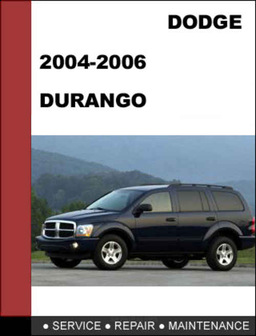 dodge durango 2004 2006 factory service repair manual. Black Bedroom Furniture Sets. Home Design Ideas