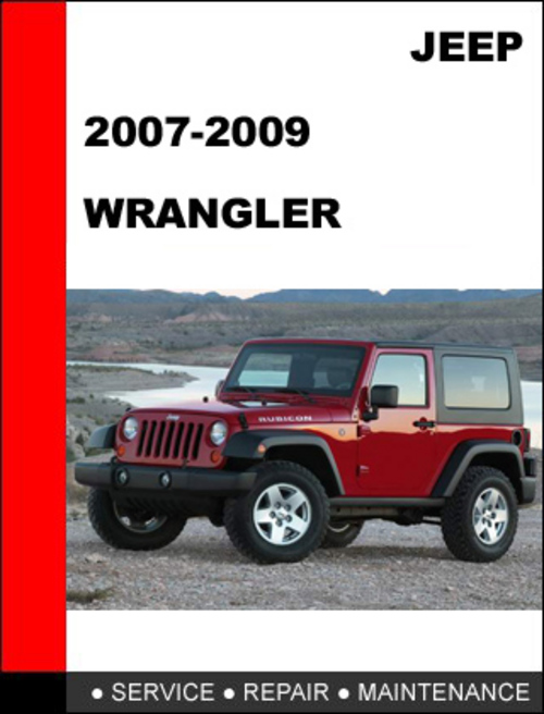 jeep wrangler 2007 2009 factory service repair manual. Black Bedroom Furniture Sets. Home Design Ideas