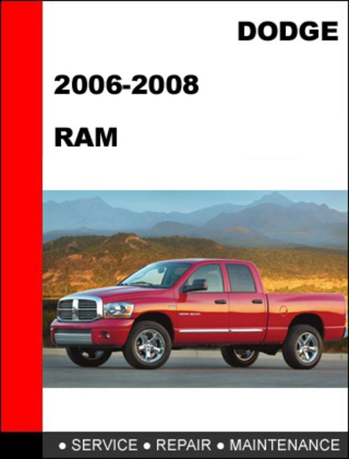 28 2008 dodge ram factory service manual 58866. Black Bedroom Furniture Sets. Home Design Ideas