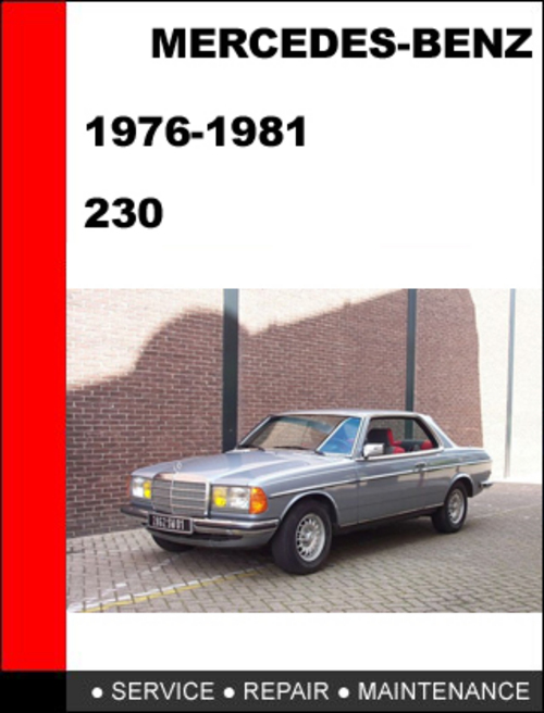 Mercedes benz 230 service manual 1976 1981 download for Schedule c service mercedes benz