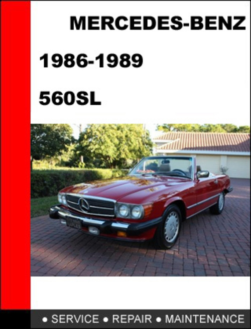 Pay for Mercedes-Benz 560SL 1986-1989 Factory Service Repair Manual