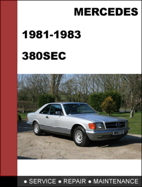 Mercedes benz 380sec w126 1982 1983 factory workshop for Mercedes benz financial services payoff
