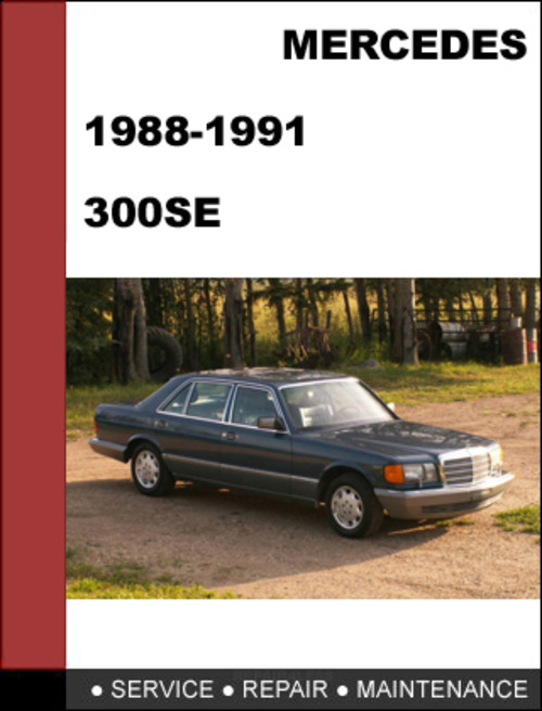 Mercedes benz 300se w126 1988 1991 factory workshop for 1988 mercedes benz 300se