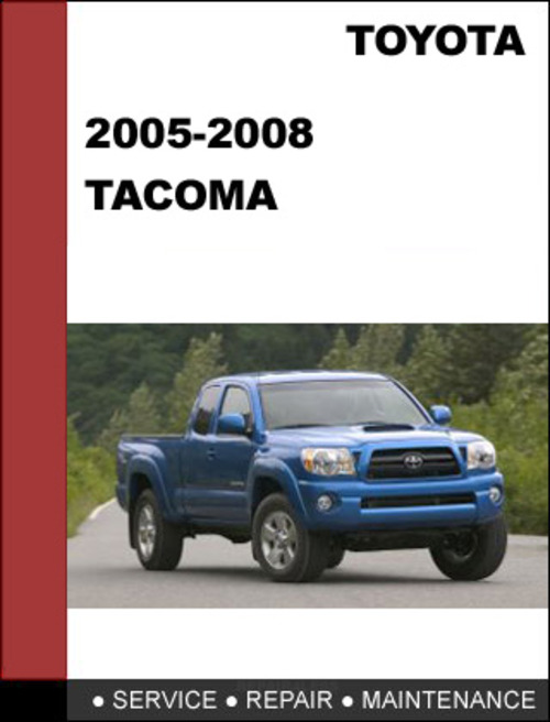 Pay For Tacoma 2005 To 2008 Factory Workshop Service border=