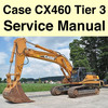 Thumbnail case cx460 tier3 workshop repair  service manual