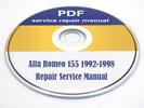 Thumbnail Alfa Romeo 155 1992-1998 Workshop Repair Service Manual PDF