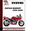 Thumbnail Download 1999-2000 GSF600 Bandit Service Repair Manual