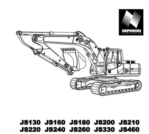 jcb js130 to js460 operator handbook manual pdf download manuals rh tradebit com 130 Excavator jcb js 130 service manual download