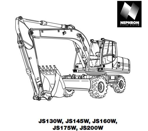 jcb js130w js145w js160w js175w js200w operator handbook. Black Bedroom Furniture Sets. Home Design Ideas