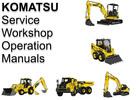 Thumbnail Komatsu Hydraulic Excavator PC210 PC210LC PC210NLC-8 Operation Maintenance Manual