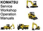 Thumbnail Komatsu Hydraulic Excavator PC340LCD NLCD-7K Parts Manual