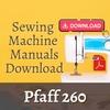 Thumbnail Pfaff 260 sewing machine Instruction & Service Repair Manual