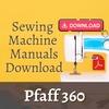 Thumbnail Pfaff 360 Instruction User Owner & Service Repair manual