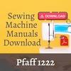 Thumbnail Pfaff 1222 Owners, User, Service & Repair manual