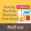 Thumbnail Pfaff 1221 Owners, User, Service & Repair manual