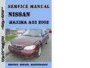 Thumbnail Nissan Maxima A33 2002 Service Repair Manual Pdf Download