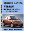 Thumbnail Nissan Micra K12 2003 Electronic Service Repair Manual