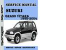 Thumbnail Suzuki Grand Vitara 1998-2004 Service Repair Manual Pdf