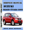 Thumbnail Suzuki Grand-Vitara 2005 Service Repair Manual Pdf Download