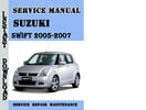 Thumbnail Suzuki Swift (RS413, RS415, RS416) 2005-2007 Repair Manual