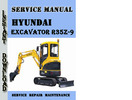 Thumbnail Hyundai Crawler Excavator R35Z-9 Service Repair Manual Pdf
