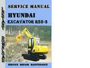 Thumbnail Hyundai Crawler Excavator R55-3 Service Repair Manual Pdf