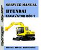 Thumbnail Hyundai Crawler Excavator R80-7 Service Repair Manual Pdf