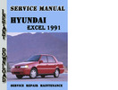 Thumbnail Hyundai Excel 1991 Service Repair Manual Pdf Download