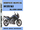 Thumbnail Suzuki DL1000 2002 Service Repair Manual Pdf Download