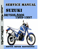 Thumbnail Suzuki DR750S,800S 1989-1997 Service Repair Manual Pdf