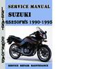 Thumbnail Suzuki GS250FWS 1990-1995 Service Repair Manual Pdf Download