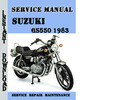 Thumbnail Suzuki GS550 1983 Service Repair Manual Pdf Download