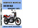 Thumbnail  Suzuki GS650G 1981 Service Repair Manual Pdf Download