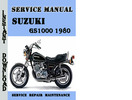 Thumbnail Suzuki GS1000 1980 Service Repair Manual Pdf Download