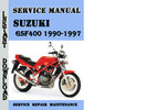Thumbnail Suzuki GSF400 Bandit 1990-1997 Service Repair Manual Pdf