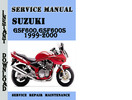 Thumbnail Suzuki GSF600,600S 1999-2000 Service Repair Manual Pdf
