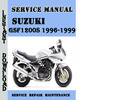 Thumbnail Suzuki GSF1200S 1996-1999 Service Repair Manual Pdf Download