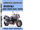 Thumbnail Suzuki GSF1200S 2001-2002 Service Repair Manual Pdf Download