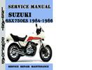 Thumbnail Suzuki GSX750ES 1984-1986 Service Repair Manual Pdf Download